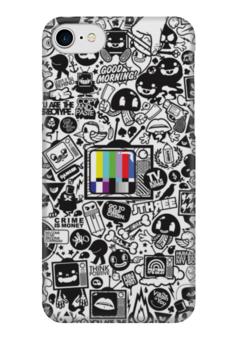 "Чехол для iPhone 7 глянцевый ""Blood Sweat Vector"" - коллаж, tv, sticker bombing, стикер-арт"