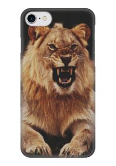 "Чехол для iPhone 7 глянцевый ""Lion"" - царь, хищник, лев, lion"