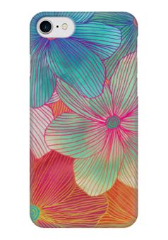 """Чехол для iPhone 7 глянцевый """"Тропические Цветы"""" - цветы, flowers, природа"""