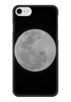 """Чехол для iPhone 7 глянцевый """"Moon / Луна"""" - wikel, луна, moon, ночь, лунная ночь"""