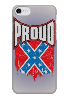 "Чехол для iPhone 7 глянцевый ""Флаг Конфедерации США"" - америка, флаг, сша, флаг конфедерации, proud"
