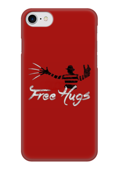 """Чехол для iPhone 7 глянцевый """"Freddy Hugs"""" - кошмар, мило, обнимашки, ужасы, фредди крюгер, hugs, freddy kruger"""
