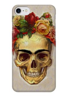 """Чехол для iPhone 7 глянцевый """"Frida Forever"""" - череп, любовь, цветы, татуировка, фрида"""