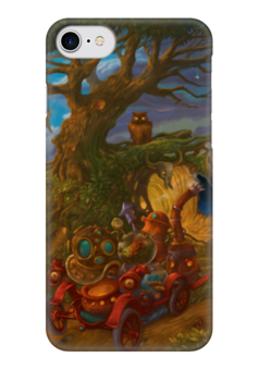 """Чехол для iPhone 7 глянцевый """"Стимпанк / Steampunk"""" - любовь, фэнтези, машины, steampunk, стимпанк"""