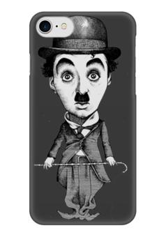"Чехол для iPhone 7 глянцевый ""Charlie Chaplin"" - кино, комик, charlie chaplin, чарли чаплин, актёр"
