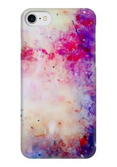 """Чехол для iPhone 7 глянцевый """"Colorfull"""" - цвет, вечеринка, party, happy, розовый"""