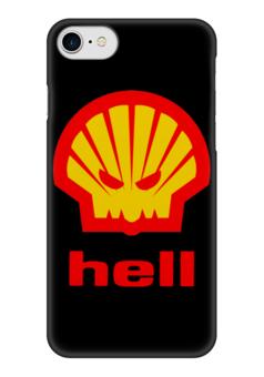 """Чехол для iPhone 7 глянцевый """"Hell (Ад)"""" - hell, пародия, ад, shell"""