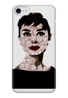 """Чехол для iPhone 7 глянцевый """"Audrey Hepburn"""" - девушке, audrey hepburn, одри хепбёрн"""