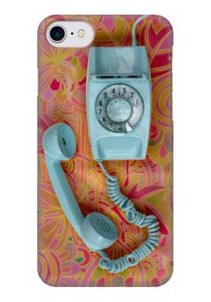 "Чехол для iPhone 7 глянцевый ""Привет из 90-x: Ретро трубка"" - ретро, retro, телефон, аппарат"