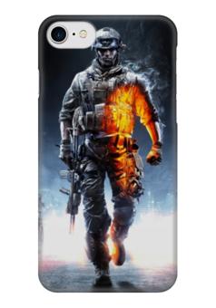 "Чехол для iPhone 7 глянцевый ""Солдат из BF"" - армия, война, battlefield, батла, военный"