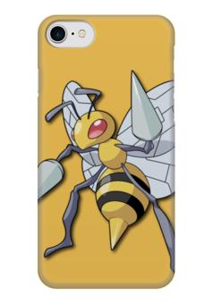 "Чехол для iPhone 7 глянцевый ""Бидрилл"" - нинтендо, nintendo, pokemon go, покемон го, beedrill"