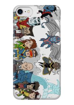 """Чехол для iPhone 7 глянцевый """"комиксы"""" - комиксы, супергерои, люди икс, dc, comix"""