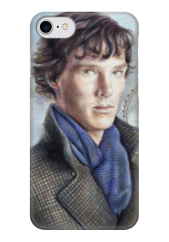 """Чехол для iPhone 7 глянцевый """"Шерлок"""" - sherlock"""