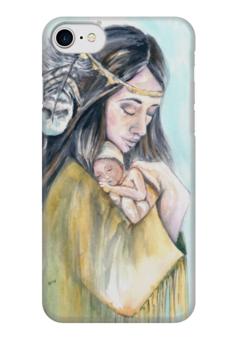 """Чехол для iPhone 7 глянцевый """"Деметра - Богиня мать"""" - женскийобраз, богиня, творчество, материнство, магия"""