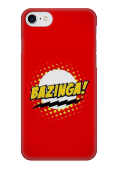 "Чехол для iPhone 7 глянцевый ""Bazinga "" - the big bang theory, bazinga, теория большого взрыва, бугагашенька"