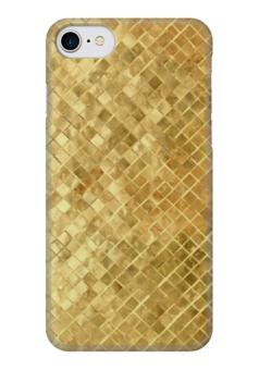 """Чехол для iPhone 7 глянцевый """"Золотая плитка"""" - золото, gold, золотая плитка"""