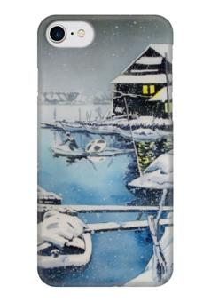 """Чехол для iPhone 7 глянцевый """"Зима в Японии."""" - зима, снег, пейзаж, япония, japan, snow"""