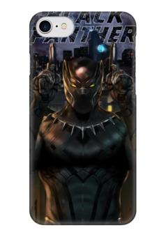 """Чехол для iPhone 7 глянцевый """"Черная пантера"""" - комиксы, пантера, марвел, black panther"""