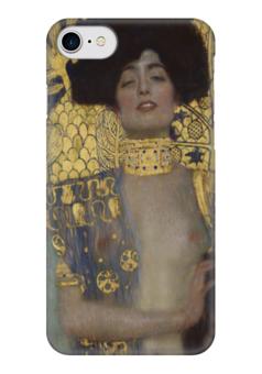 """Чехол для iPhone 7 глянцевый """"Джудит I (Judith I) (Густав Климт)"""" - картина, эрнст климт"""