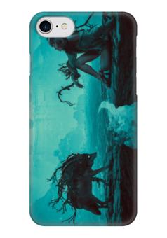 """Чехол для iPhone 7 глянцевый """"Мать волчица"""" - арт, волк"""
