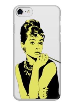 "Чехол для iPhone 7 глянцевый ""Леди Хепбёрн"" - классика, светлый, леди, одри хепберн"