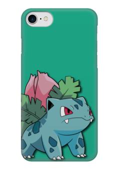 """Чехол для iPhone 7 глянцевый """"Ивизавр"""" - нинтендо, бульбазавр, покемон го, ivysaur, венузавр"""