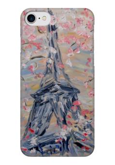 "Чехол для iPhone 7 глянцевый ""Париж"" - весна, девушке, франция, париж, эйфелева башня"