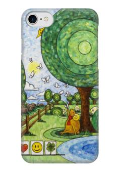 "Чехол для iPhone 7 глянцевый ""Lollypups #17"" - арт, бабочки, счастье, баран, наталия бойченко"