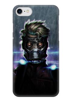 """Чехол для iPhone 7 глянцевый """"Star lord"""" - комиксы, марвел, guardians of the galaxy, звездный лорд, стражи галатики"""
