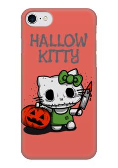 "Чехол для iPhone 7 глянцевый ""Hallow Kitty"" - кошка, hello kitty, тыква, хелло китти, хэловин"