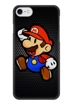 "Чехол для iPhone 7 глянцевый ""Марио (Mario)"" - nintendo, mario, марио, mario bros"