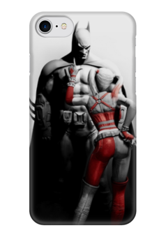 "Чехол для iPhone 7 глянцевый ""Бэтс и Харли"" - бэтмен, dc, харли, arkham city"