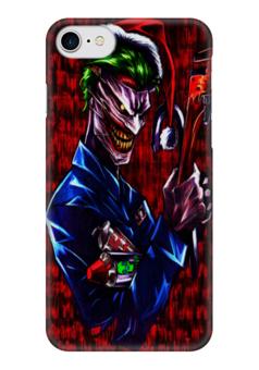"Чехол для iPhone 7 глянцевый ""Джокер"" - комиксы, джокер, dc, псих"