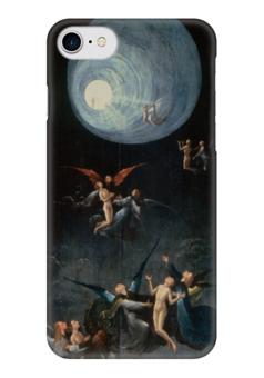 """Чехол для iPhone 7 глянцевый """"Блаженные и проклятые (Восхождение в эмпирей)"""" - рай, ангелы, картина, босхарт"""