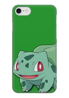"""Чехол для iPhone 7 глянцевый """"Бульбазавр"""" - нинтендо, bulbasaur, покемон го, венузавр, ивизавр"""
