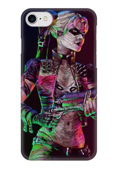 """Чехол для iPhone 7 глянцевый """"Харли Квинн"""" - комиксы, harley quinn, dc comics, отряд самоубийц, suicide squad"""