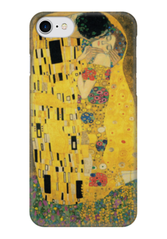 """Чехол для iPhone 7 глянцевый """"Поцелуй (картина Климта)"""" - картина, климт"""