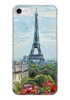 """Чехол для iPhone 7 глянцевый """"Эйфелева башня"""" - графика, франция, париж, эйфелева башня"""