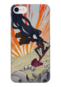 "Чехол для iPhone 7 глянцевый ""Марселин"" - черепа, рок, adventure time, время приключений, марселин"