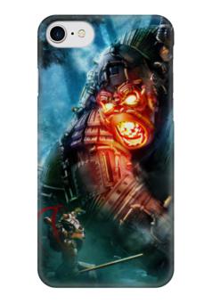 "Чехол для iPhone 7 глянцевый ""Кинг Конг / Steampunk"" - иллюстрация, фэнтези, steampunk, стимпанк, кинг конг"