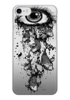 """Чехол для iPhone 7 глянцевый """"Слезоточивый глаз"""" - глаз, рыбы, рыба, слёзы, арт дизайн"""