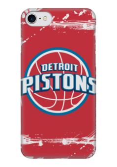 "Чехол для iPhone 7 глянцевый ""Detroit Pistons"" - баскетбол, detroit pistons, детройт пистонс"