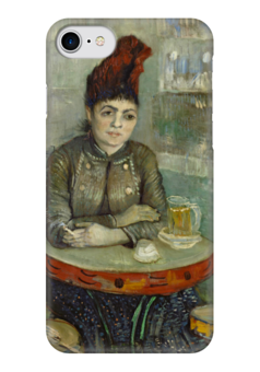 "Чехол для iPhone 7 глянцевый ""Агостина Сегатори в кафе «Тамбурин»"" - картина, ван гог"