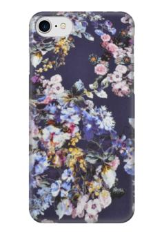 """Чехол для iPhone 7 глянцевый """"цветочный """" - цветы, цветочный"""