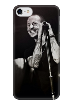 "Чехол для iPhone 7 глянцевый ""Linkin Park,Chester Bennington"" - rock, linkin park, hip-hop, rip, chester bennington"