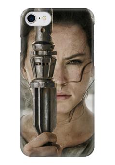 """Чехол для iPhone 7 глянцевый """"Звездные войны - Рей"""" - звездные войны, кино, фантастика, дарт вейдер, star wars"""