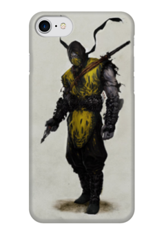"""Чехол для iPhone 7 глянцевый """"Mortal Kombat X Scorpion"""" - скорпион, mortal kombat, смертельная битва, scorpion"""