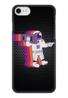 """Чехол для iPhone 7 глянцевый """"Космонавт """" - space, космос, космонавт, интерстеллар, тарс"""