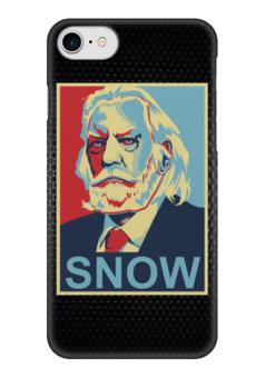 """Чехол для iPhone 7 глянцевый """"Голодные Игры (The Hunger Games)"""" - hunger games, голодные игры, obey, snow"""