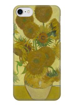 "Чехол для iPhone 7 глянцевый ""Подсолнухи (Ван Гог)"" - картина, ван гог"